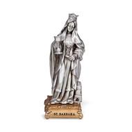 "St. Barbara- 4 1/2"" Pewter Statue"
