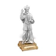 "St. Robert- 4 1/2"" Pewter Statue"