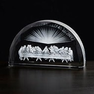 Last Supper Scene Etched Glass