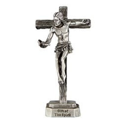 """Gift of The Spirit  3"""" Pewter Crucifix with Confirmation Card"""