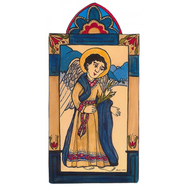 Saint Gabriel the Archangel Pocket size Retablo - Childbirth  and Postal Workers