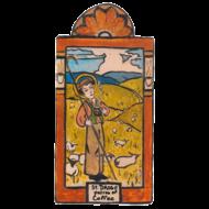 St. Drogo Pocket size Retablo - Baristras