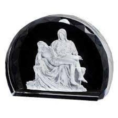 Pieta Scene Etched Glass