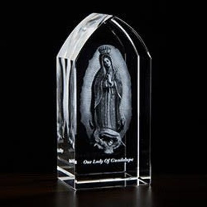 Our Lady of Guadalupe Etched Glass