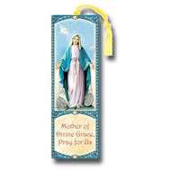 "Our Lady of the Miraculous Medal 2.25"" x 6"" Laminated Tasseled Bookmark"