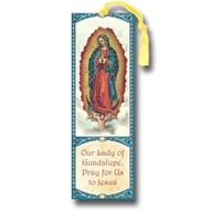 """Our Lady of Guadalupe 2.25"""" x 6"""" Laminated Tasseled Bookmark"""