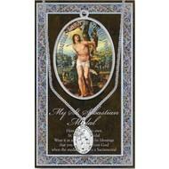St. Sebastian Pewter Medal w/Booklet