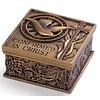 "CONFIRMATION KEEPSAKE BOX; BRONZE FINISH 2.75""H"