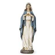 """Immaculate Heart of Mary  Statue, 14""""H"""