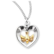"""Holy Spirit Medal Sterling Sliver, with Chain 18"""""""