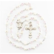 Rosary, Fresh Water Pearl and Pink