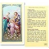 Prayer For The Families Laminated Holy Card Printed in Italy