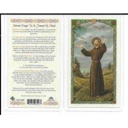 Novena Prayer to St. Francis of Assisi Laminated Holy Card