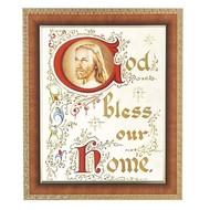 """God Bless Our Home, Art Frame 10"""" x 12"""""""
