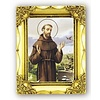 "St. Francis Antique  Gold  Art Frame, 3.5"" x  4.5"""