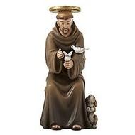 """Seated St. Francis 6"""" Figurine"""