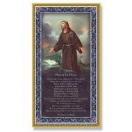 """St. Francis 5"""" X 9"""" Gold Foil Italian Plaque with Prayer"""