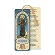 St. Francis Laminated Bookmark with Tassel