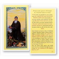 Prayer For Graces Through St. Charbel,  Laminated Holy Card, Printed in Italy