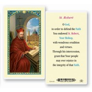 St. Robert,  Laminated Holy Card, Printed in Italy