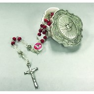 Confirmation Rosary with Metal Rosary Case
