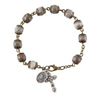 White and Blue Rosary Bracelet of St. Michael