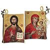 Virgin Of Smolensk & Christ The Teacher Rosary Icon Pouch