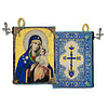 Virgin mary Eternal Bloom Tapestry Rosary Icon Pouch