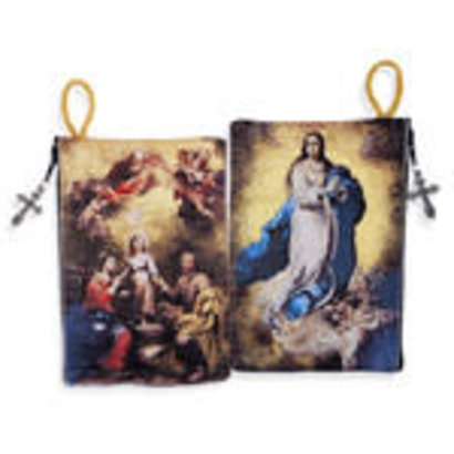 The Immaculate Conception & Holy Family Tapestry Rosary Icon Pouch