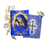Virgin Mary of Sorrows  Icon Rosary Pouch