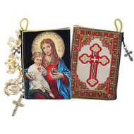 The Immaculate Heart of Mary and Jesus Child Rosary Icon Rosary Pouch