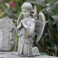 "Celtic Angel Outdoor Statue, 12.25"""