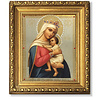 """Virgin Of Hope Framed Icon with Crystals and Glass 8 1/4""""x7 1/4"""""""