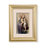 St. Joseph Gold Framed Art | Beige Velvet Matting
