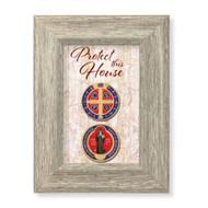 """St. Benedict House Blessing Gray Framed Art, 6 1/2"""" x 8 1/2"""""""