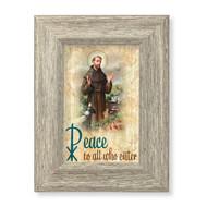 St. Francis Peace Blessing Gray Framed Art