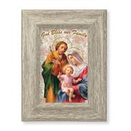 Holy Family Blessing Gray Framed Art