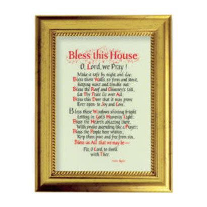 """Bless This House Gold-Leaf Framed Art, 9"""" x 6 3/4"""""""