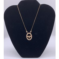 Holy Spirit Rose Gold Plated Necklace with Rhinestones