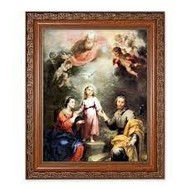 "Heavenly & Earthly Trinities, Antique Mahogany Frame 10 1/4"" x 12"""