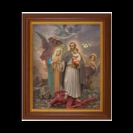 "St. Joseph Terror of demons, Dark Walnut Frame 10 1/2"" x 12 1/2"""