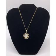 Our Lady Of Guadalupe Shell Necklace on Gold PLate Chain
