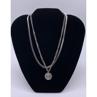 Angel Pendant on Stainless Steel  Double Stranded  Snake Chain