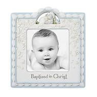 "Baptized in Christ Photo Frame, Blue 4"" x 4"""