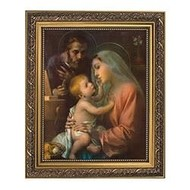 "Holy Family, Gold Finish Frame 10.25"" x 12.25"""