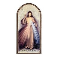 """Divine Mercy, Marco Sevelli Arched Plaque, 15"""""""