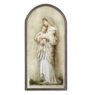 """Innocence, Marco Sevelli Arched Plaque, 15"""""""