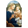 """Lippi Virgin In Adoration Arched Plaque,  7"""" W x 12"""" H"""
