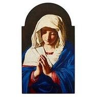 "Sassoferrato Virgin In Prayer Arched Plaque,  7"" W x 12"" H"