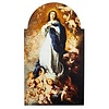 """Murillo Immaculate Conception Arched Plaque,  7"""" W x 12"""" H"""